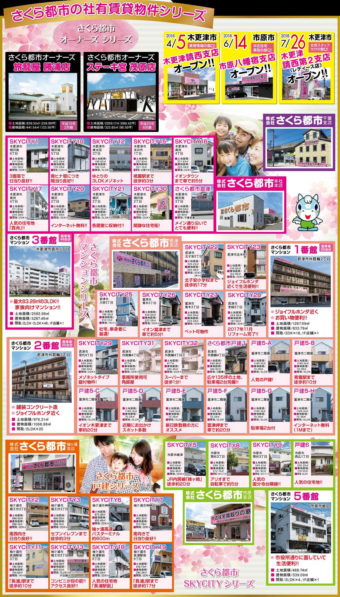 さくら都市の社有賃貸物件シリーズ